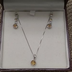14KT necklace and earring set